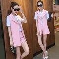 Women' Suits Three Piece Interview Suit Fashion Slim Long Candy Color Veste Femme