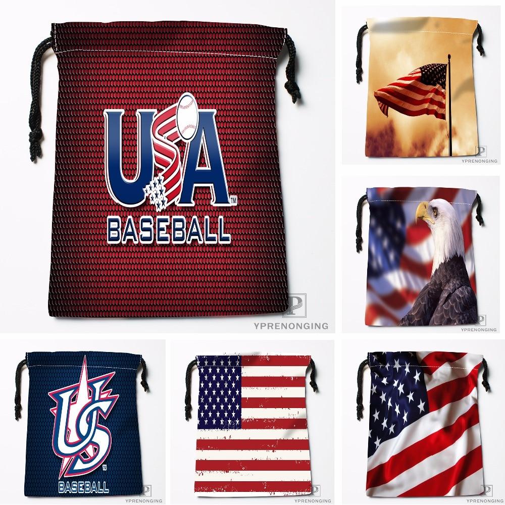 Custom American Flag Eagle Drawstring Bags Printing Travel Storage Mini Pouch Swim Hiking Toy Bag Size 18x22cm#180412-11-62
