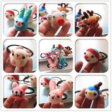ФОТО handmade wool felt little cartoon animal hair ring hair rope hair accessories for women girl children free shipping