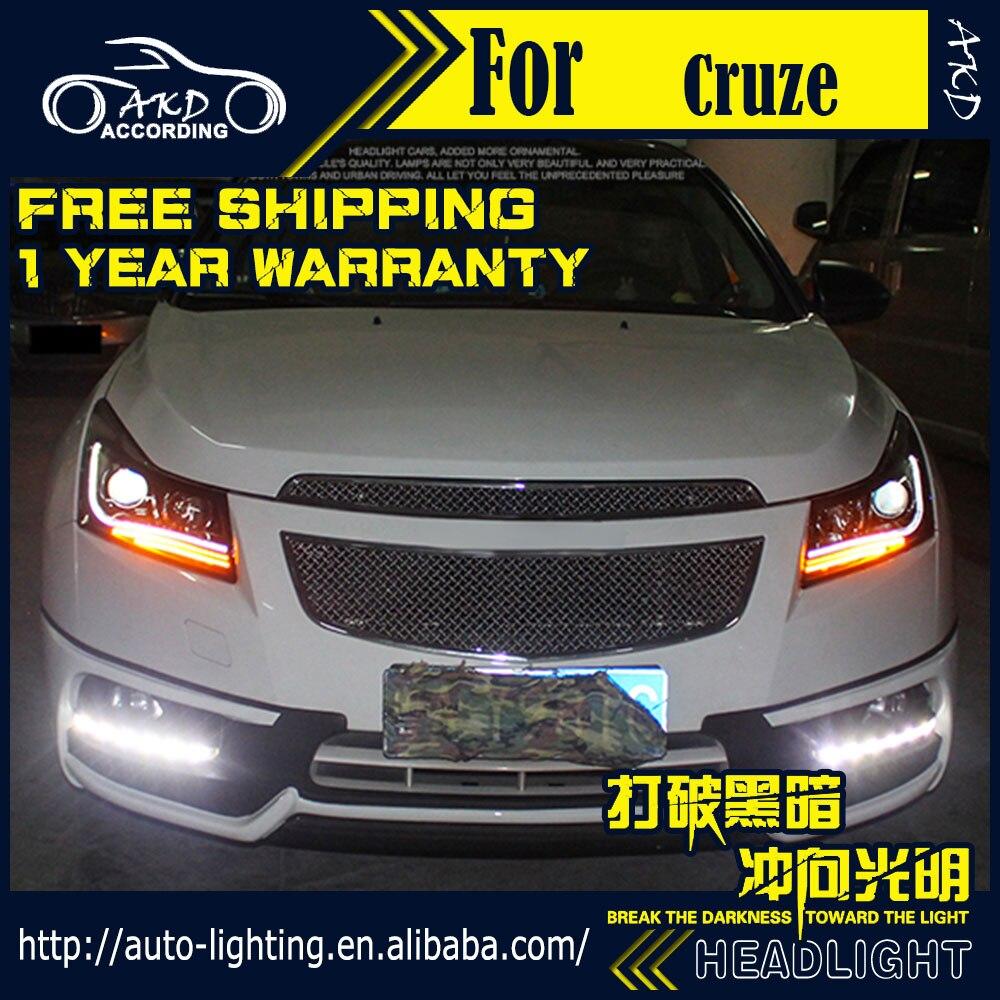 Akd car styling head lamp for chevrolet cruze led headlight cruze headlights led drl h7 d2h