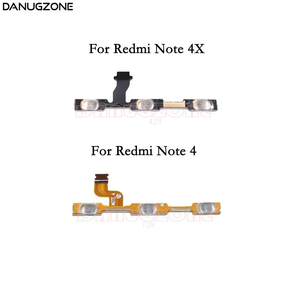 Botão Power On/Off Botão Interruptor Mute Volume Flex Cable Para Xiaomi Redmi NOTA 4/Redmi NOTA 4X