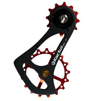 63g 17TSR Carbon Fiber Bicycle Rear Derailleur Jockey Wheel Ceramic Bearing Cycling Pulley Wheel Rear for SRAM RIVAL FORCE RED