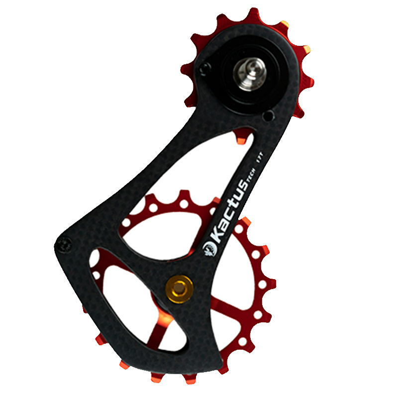 63g 17TSR In Fibra di Carbonio Della Bicicletta Deragliatore Posteriore Jockey Ruota Cuscinetto di Ceramica Ciclismo Puleggia Ruota Posteriore per SRAM RIVAL FORZA ROSSO