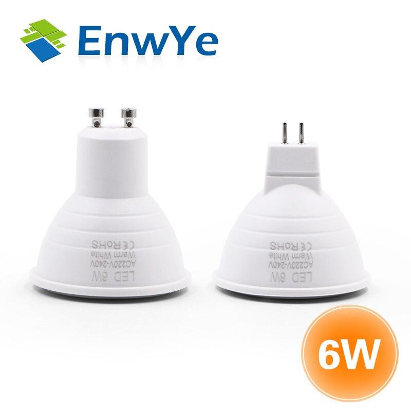 EnwYe LED Lamp GU10 MR16 LED Bulb 3W  6W 220V Lampada LED Condenser Lamp Diffusion Spotlight Energy Saving Home Lighting