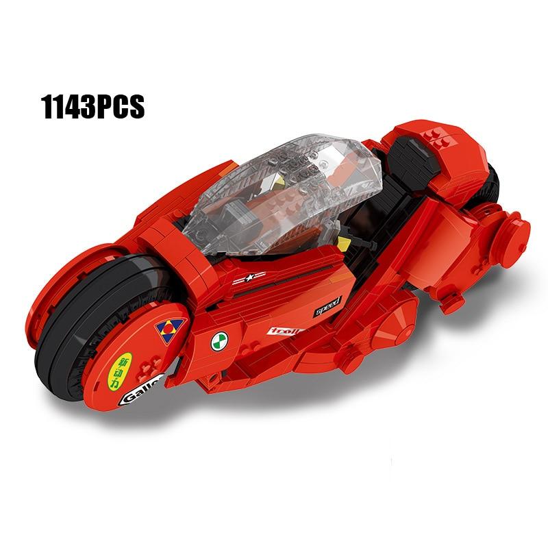купить Hot movie Creative Dream cars MOC Citizen Kaneda Akira motorcycle building block model bricks toys for children gifts collection по цене 5287.49 рублей