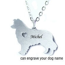 Free engraving Alaskan Malamute Dog Collar Can Engrave Name / Date of Birth Dog , Dog Memorial, Pet Jewelry, Custom Dog Collar(China)