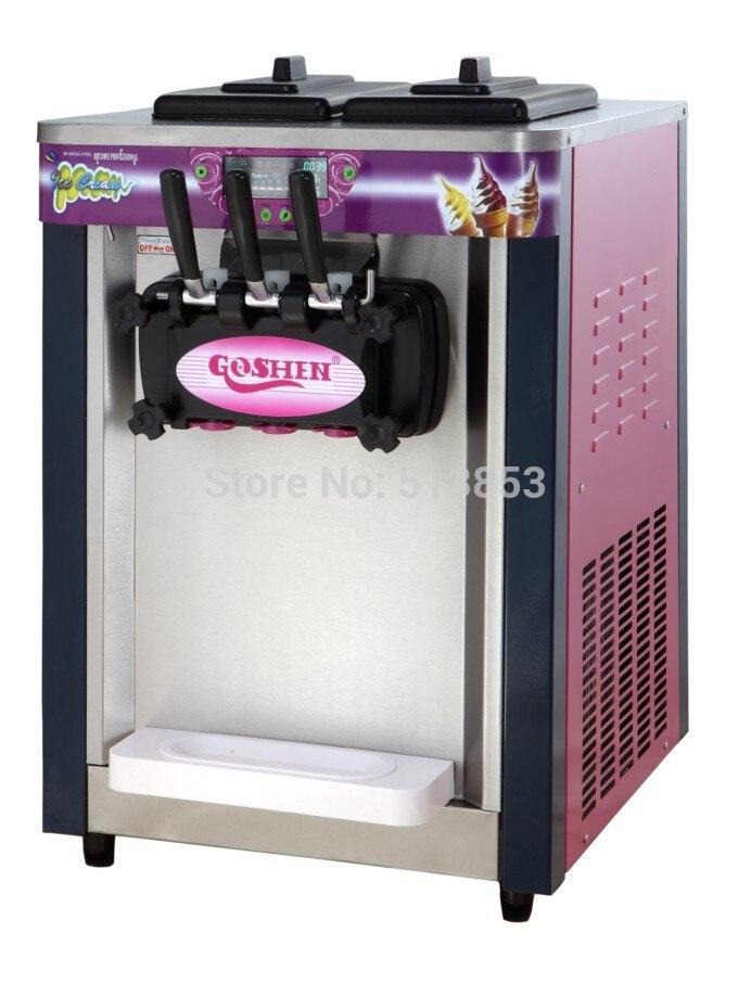 220 v 60 hz, deux et un tordu 20L crème glacée machine bureau top ice cream making outil usine vente