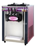 220V 60Hz,two and one twisted 20L ice cream machine desk top ice cream making tool factory sale