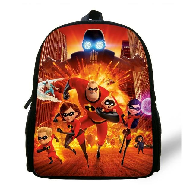 bbd1b7bff63f 12-inch Popular Cartoon Preschool Bags For Children The incredibles Backpack  For Baby Girls Boys Kindergarten Bag