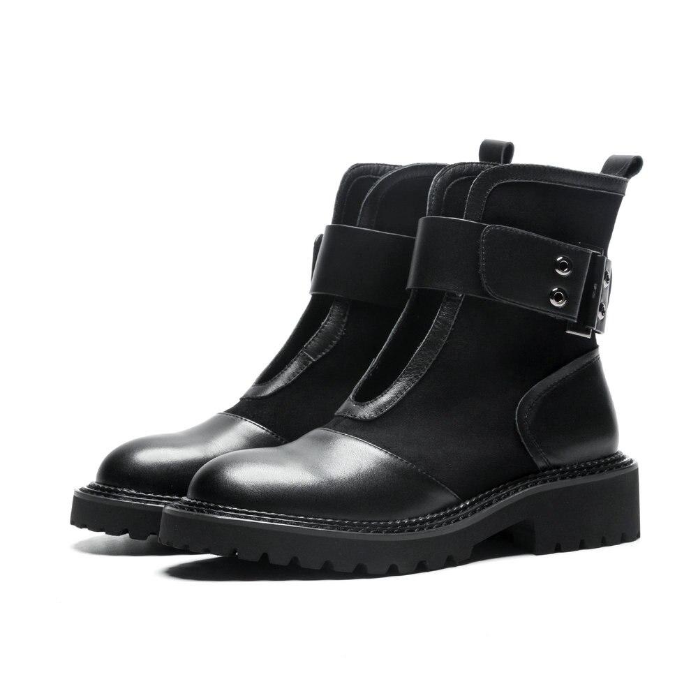 Moto Femmes Talon Printemps Aiweiyi Faible Mode Black Noir Automne Pour Cheville Bottes Détouré Gladiateur Chaussures wIqTPzI