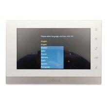 AHUA Multi-Язык CE VTH1550CH 7-дюймовый сенсорный крытый монитор, Международный verision, IP звонок, видео-домофон, проводной дверной звонок