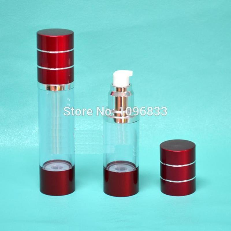 30ML Red Color Airless Bottle, 30G Airless Pump Bottle, Cosmetic Essence Lotion Packaging bottles, Vaccum Bottle, 35pcsLot