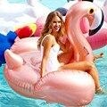 150 см 59 дюймов надувной фламинго розовое золото гигантский бассейн игрушки для купания кольцо круг морской матрас пляж Единорог для вечерин...