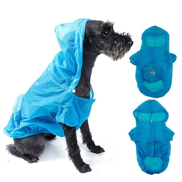 Домашних Собак Пальто Дождя Водонепроницаемый Одежда Куртка С Капюшоном Комбинезон Одежда Одежда Для Собак Плащ Для Средних и крупных Собак Плащи