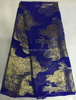 5yards Lot NYSL7324 13 High Class Silk Fabric For Dress Embroidered George Silk Fabric African