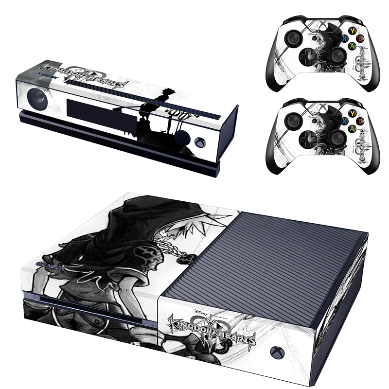 US $7 99  Kingdom Hearts Full Protective Skin Sticker Cover Decal for XBOX  ONE Console Kinect and 2 Controller Skins-in Replacement Parts &