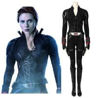 2019 Avengers Endgame Black Widow Cosplay Costume Adult Avengers 4 Natasha Romanoff Outfit Jumpsuit Halloween Party Costume