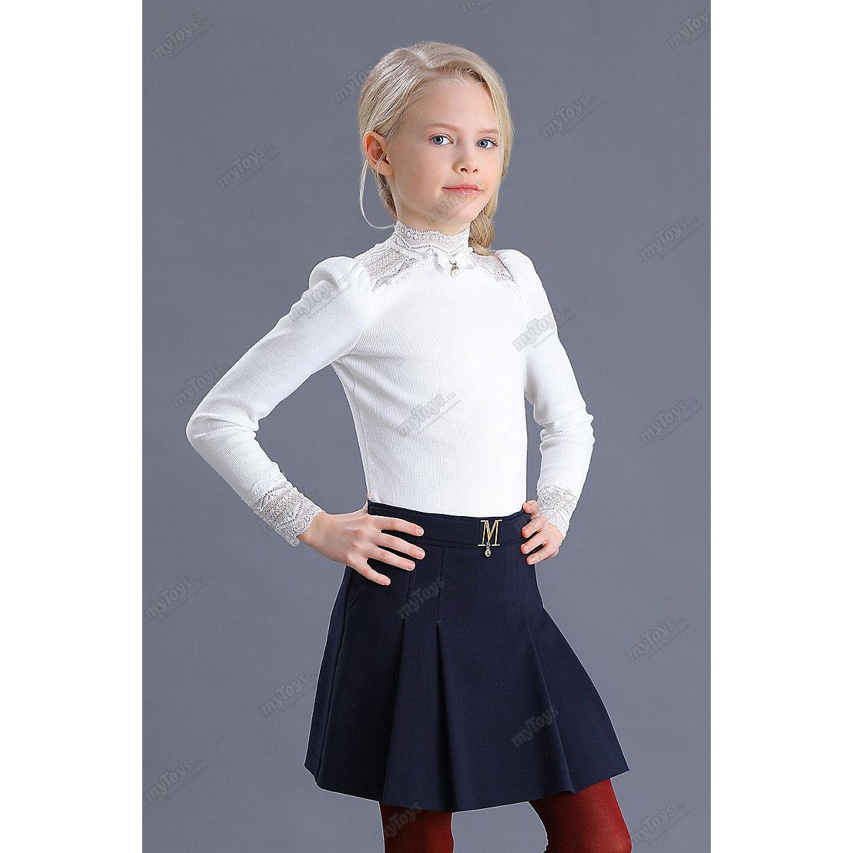Malenkaya Lady Skirts 11685612 elegant for girls children clothing school uniform color blue Formal  A-Line