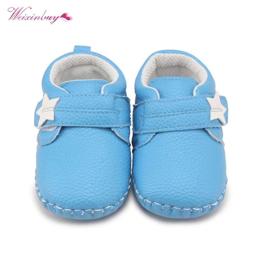 2018 Fashion New Baby Boy Girl Shoes Casual Solid Shallow Hook&Loop First Walkers
