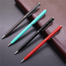 Promotion Metal Ball Pen Hotel Room  0.7/1cm blue ink Pen Write Fluent Advertisement Pen Can  Metal Pen Free shipping