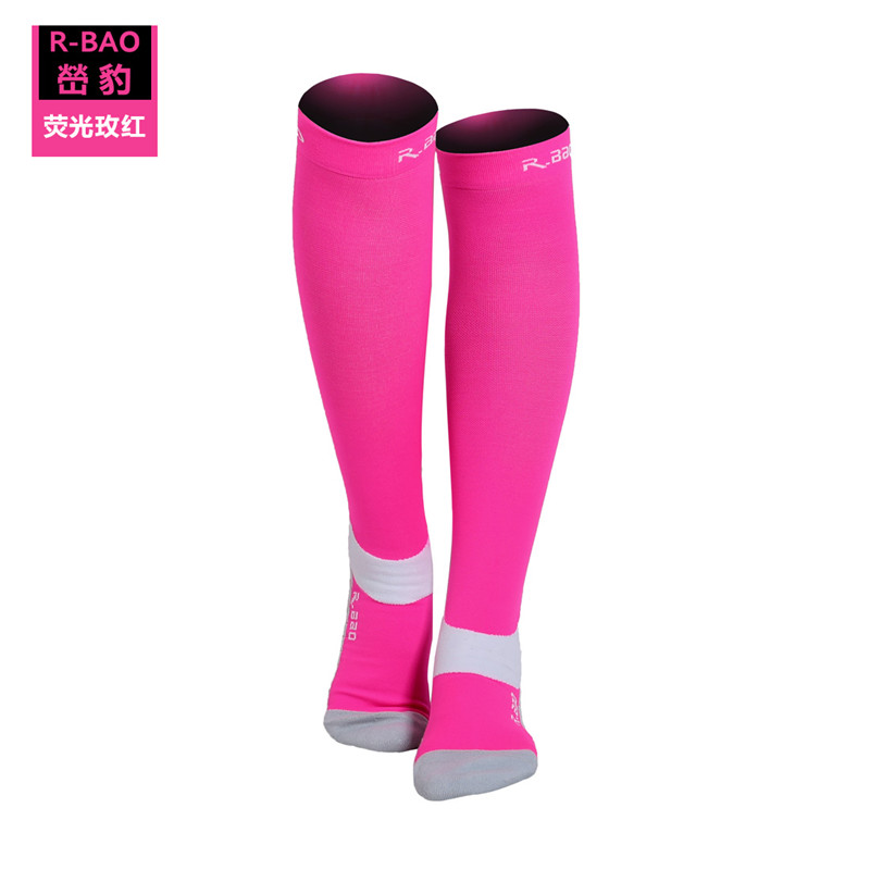 Image 2 - RB7707 R Bao Men/Women Professional Compression Running Stockings High quality Marathon Sports Socks Quick Dry Bicycle Socks-in Running Socks from Sports & Entertainment