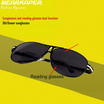25f805b429 JN impresión Bifocal polarizado gafas de lectura masculinas conducción gafas  de sol Presbyopic Diopter 1 1,5 2 2,5 3 3,5