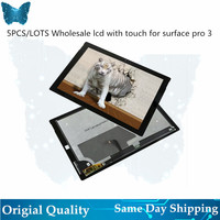 5PCS/LOT Wholesale Original lcd screen for Microsoft Surface Pro 3 1631 Tablet LCD display touch digitizer assembly LTL120QL01