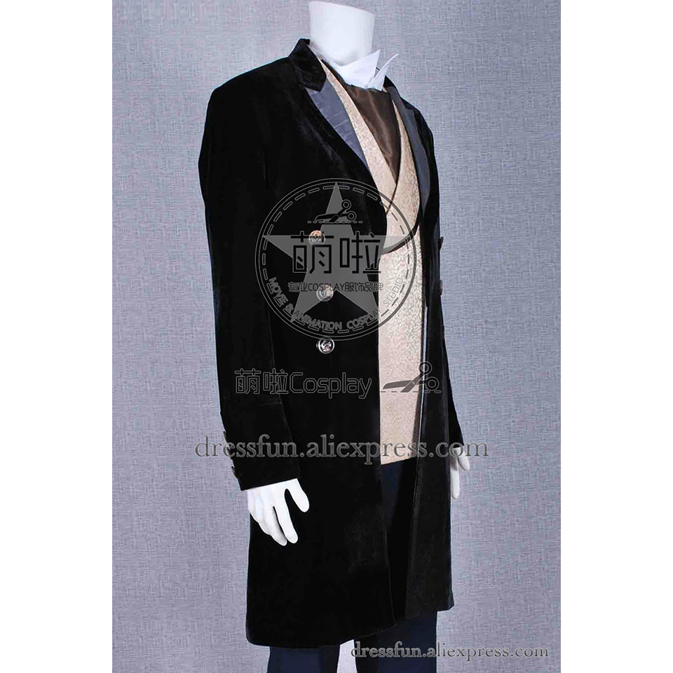 Who Is The Doctor Cosplay Eighth Dr 8th Costume Man Suit Movie Full Set Uniform