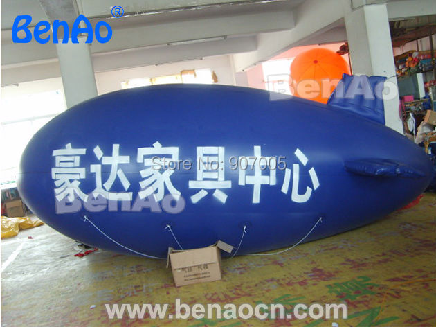AO152 DHL Free shipping+printing  6m Inflatable airship/PVC High Quality Promotional Helium Blimp Balloon