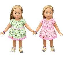 18 Polegada Doll Dress-Roupa Bonito Roupas para Bonecas-Brinquedo Presentes para As Meninas