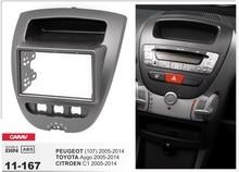 Rahmen + Auto DVD radio Android 5.1.1 Autoradio GPS Navigation Auto-dvd-player-steuergerät für Toyota Aygo Citroen C1 Peugeot 107 stereo gps dvr