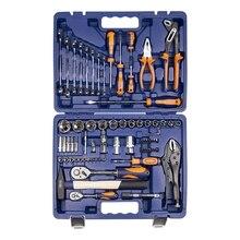 Набор ручного инструмента Helfer HF000014 (72 предмета, 15 головок 1/4 дюйма, 13 - 1/2 дюйма, отвертоки, кейс)