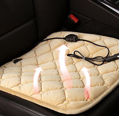 Winter heated general car seat chair pad quadripartite thermal plush car heating cushion vehicle office  car seat single