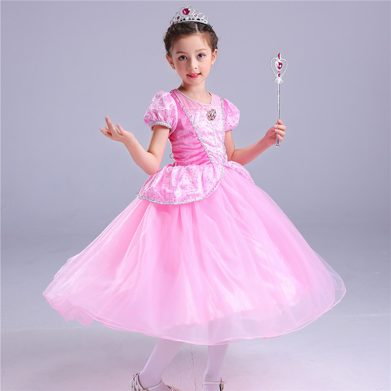 Casual Girl Princess Party Dress Halloween Cosplay Sofia Princess Show Dresses Halloween Costume Clothes Children 4 to 10 Years