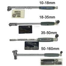 Tige de mesure de diamètre intérieur 50-160mm + sonde (sans indicateur), accessoires 10-18mm 18-35mm 35-50mm
