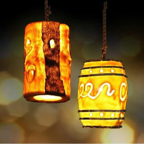 Art creative individual retro resin Led pendant light,American loft style pendant lamp for home lights bar,E27*1 bulb included