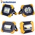 100 W Led Tragbare Spotlight Work Licht USB Aufladbare Taschenlampe 2*18650 Oder 3 * AA Batterie Für Jagd camping Led Laterne