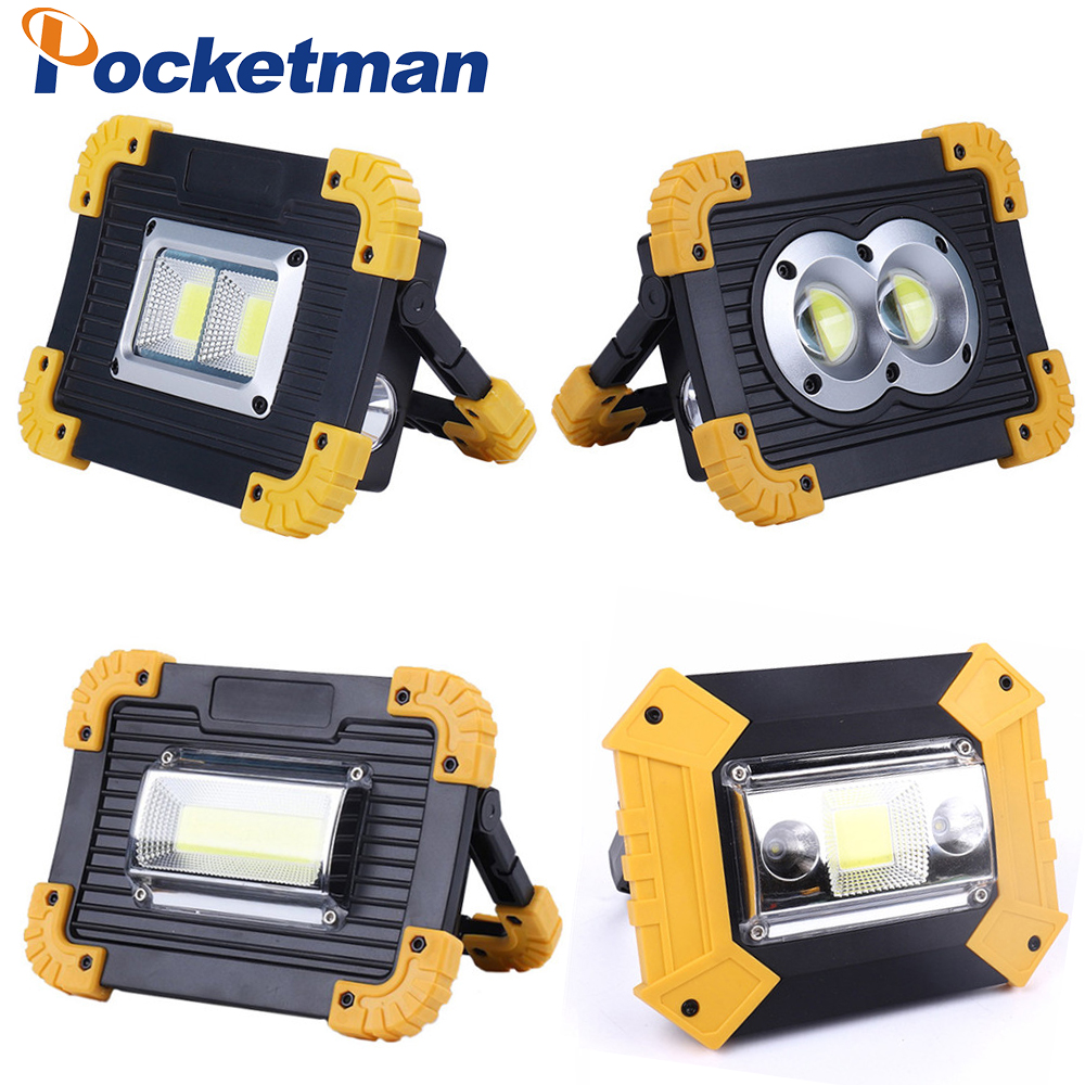 100W Led Portable Spotlight Work Light USB Rechargeable Flashlight 2*18650 Or 3*AA Battery For Hunting Camping Led Latern