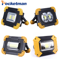 100W Led Portable Spotlight Work Light USB Rechargeable Flashlight 2*18650 Or 3*AA Battery For Hunting Camping Led Latern|Portable Spotlights| |  -