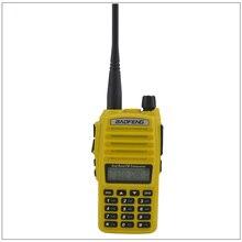 Портативный Baofeng Радио UV-82 Walkie Talkie Цвет Желтый двухдиапазонный VHF/UHF радиолюбителей трансивер Baofeng UV82 w/Бесплатная наушник
