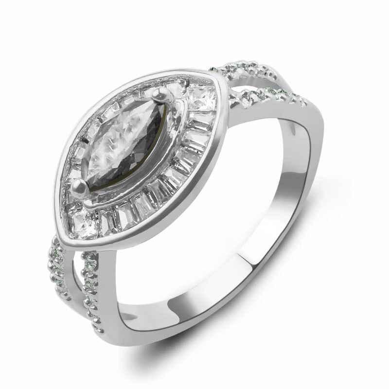 Прямая поставка, оливковый зеленый цирконий, кольцо с конским глазом, серебряное, золотое, для свадьбы, вечеринки, помолвки, кольцо для женщин, вечерние