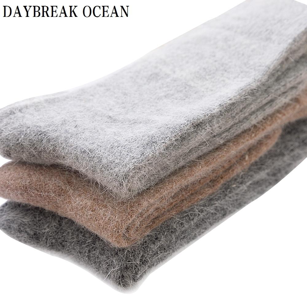 681ce5c3ba618 3 Pair High Quality Angora Cashmere Rabbit Wool Socks Super Soft Thick Warm  Merino Men Socks 2018 Big Size Winter Socks For Men