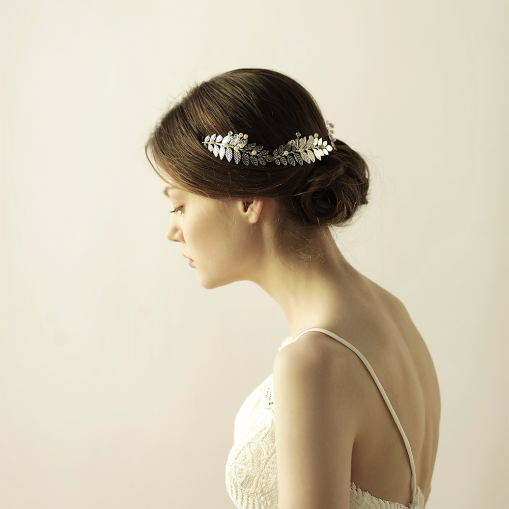 Silver/Gold Color Bridal Wedding Hair Accessories Leaves Girls ...