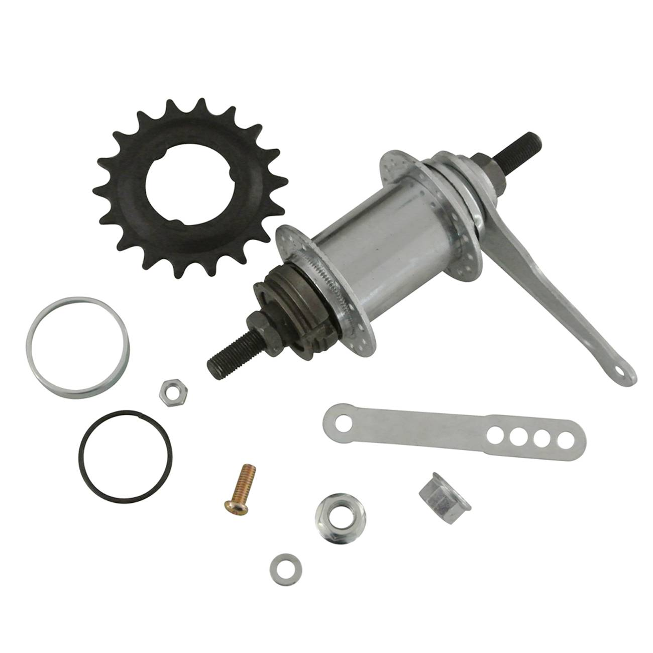 32 Holes Brake Rear Hub Stainless For Fixed Gear Bicycle Coaster billet rear hub carriers for losi 5ive t