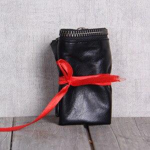 Image 2 - AETOO billetera de cuero hecha a mano para hombre y mujer, billetera de piel de vaca, clip para dinero, diseño simple, general