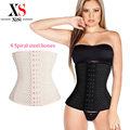 Women slimming waist cincher corset body shaper 4 steel boned waist trainer corsets Plus size tummy shaper Corset Shapewear
