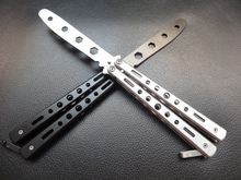 COG Stainless Steel Balisong Trainer Training Practice Butterfly Style Dull Blade Knife Tool High Quality not sharp knife american butterfly practice knife stainless steel camping tool combe balisong knife