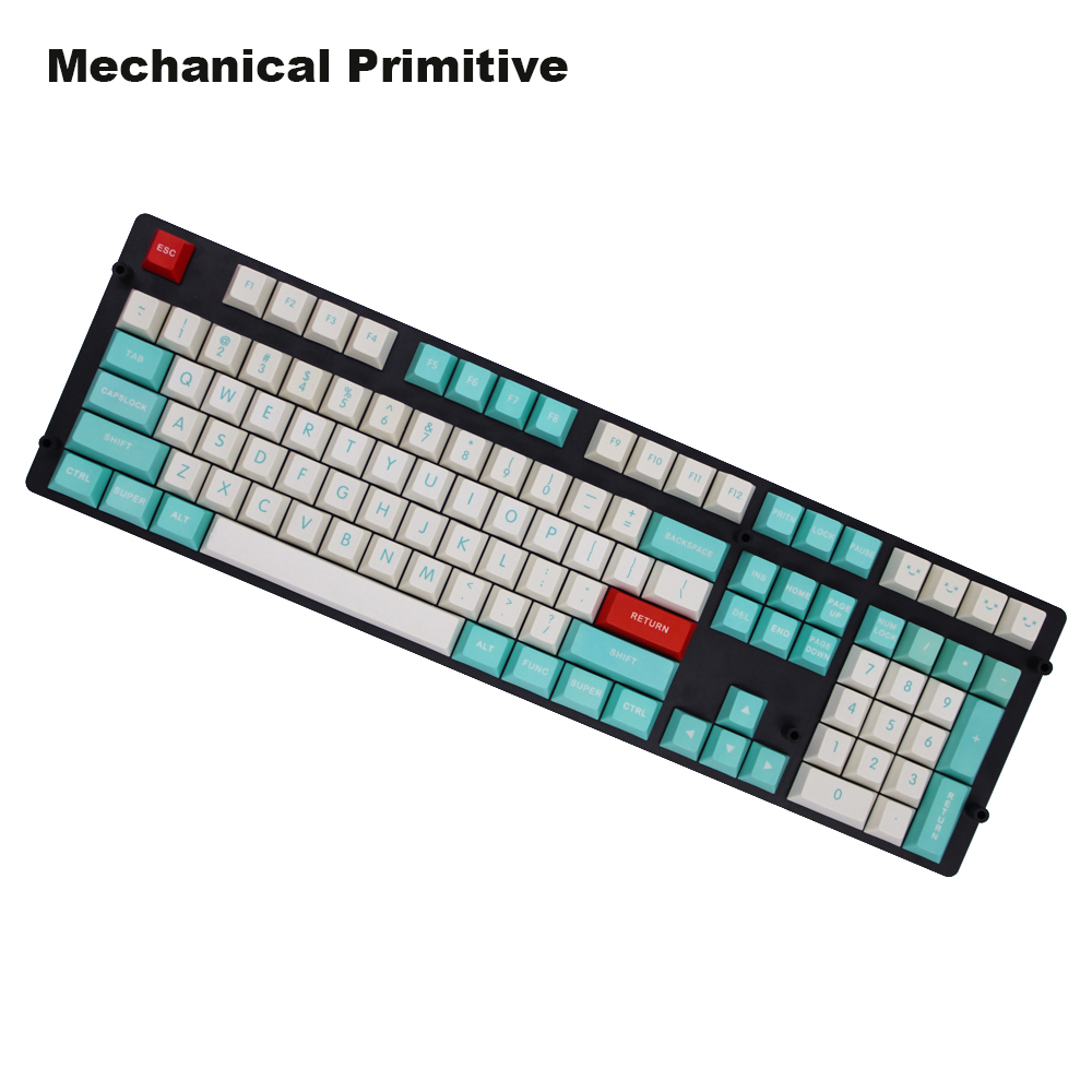 MP Dye Sublimated 60 87 108 Keys Thick PBT keycaps Cream Red Cyan MX Switch Cherry