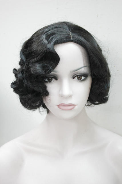 Fs Fashion Hairstyle Black Women Retro Wigs Vintage Finger Wave