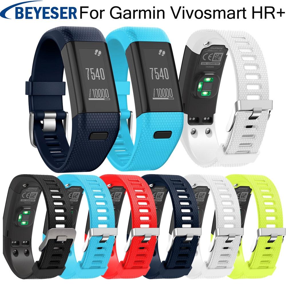 Watchband strap silicone for Garmin Vivosmart HR+ replacement watchstrap For Garmin Vivosmart HR+ Sport smart bracelet wristbelt